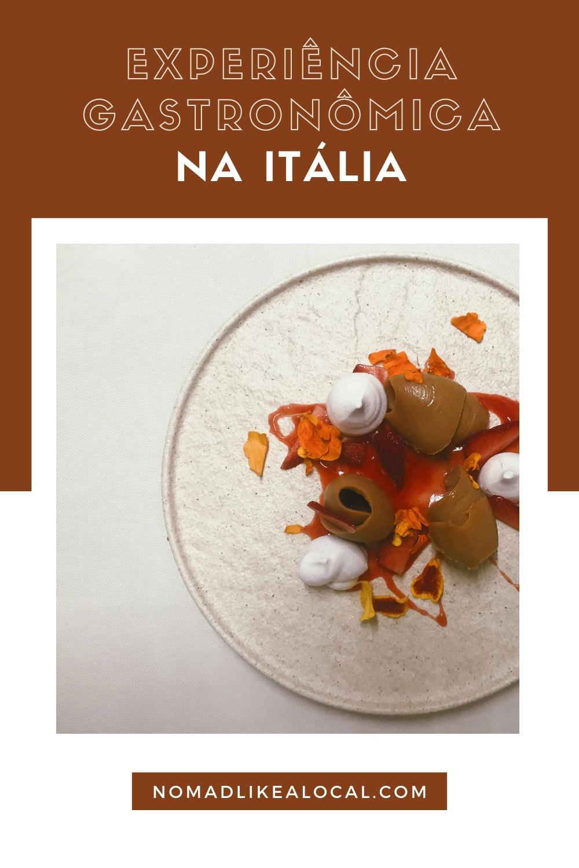 experiência gastronômica na itália